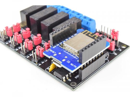 CANADUINO 4-Channel WiFi Relay with ESP8266 – Arduino compatible