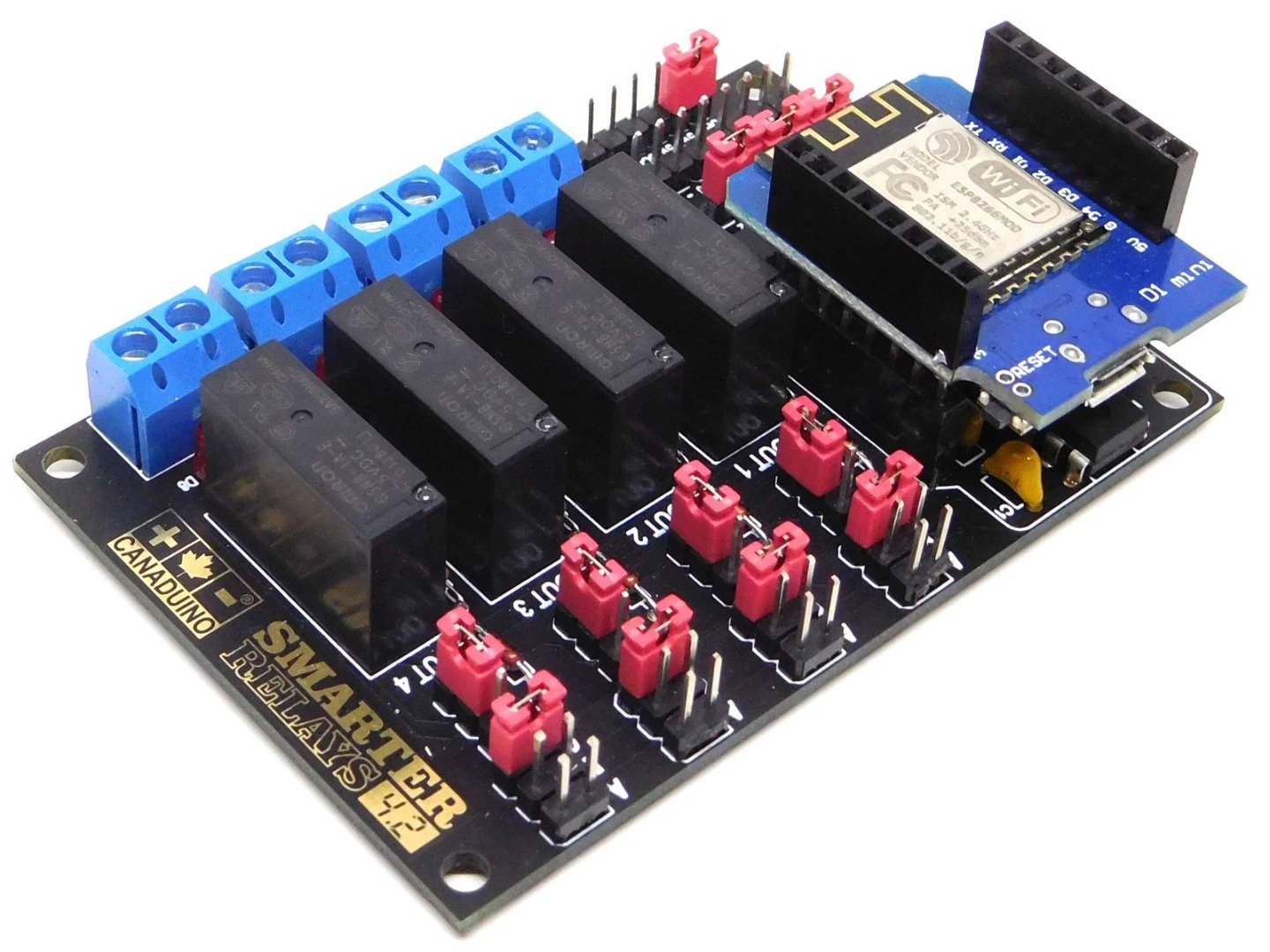 CF11 2 Channel 12V Relay Shield Module Board with Optocoupler Power Supply AVR