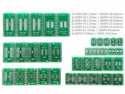 35 pcs SMD to DIP Adapter, SOP, SSOP, SOT-23, 7 different kinds