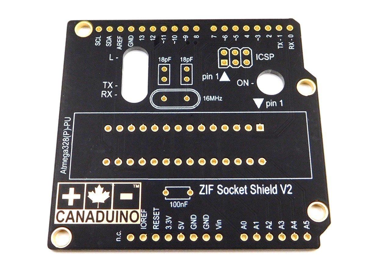 CANADUINO ZIF Socket Programming Shield V2 for Arduino