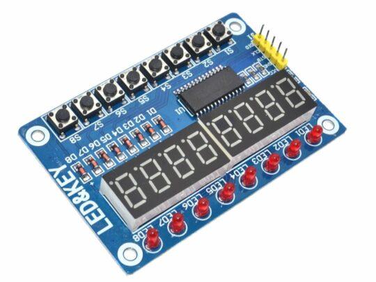 LED & KEY 8-Bit 8-Digit Display and Keys Module Arduino etc.