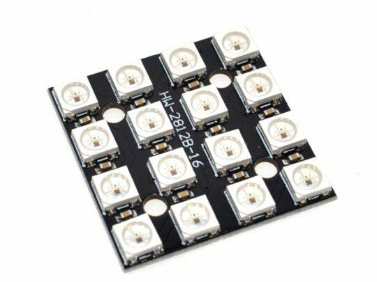 RGB LED 4×4 Matrix with 16 x WS2812B Neopixel compatible