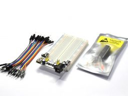 Arduino Small breadboard 400 Kit with Atmega328P Power Supply and Wires