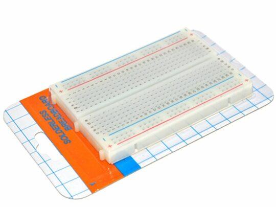 Solderless breadboard 400 Tie Points – Adhesive Back – Detachable Power Lanes