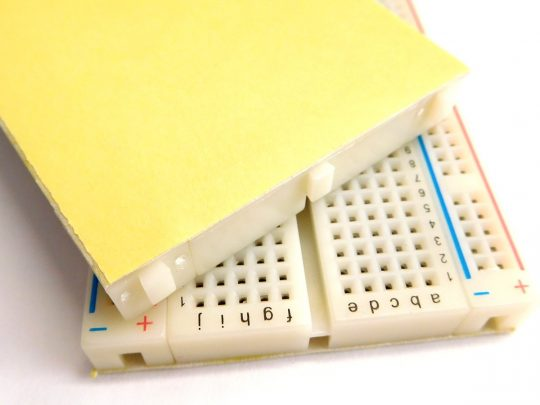 Solderless breadboard 830 Tie Points – Adhesive Back – Detachable Power Lanes