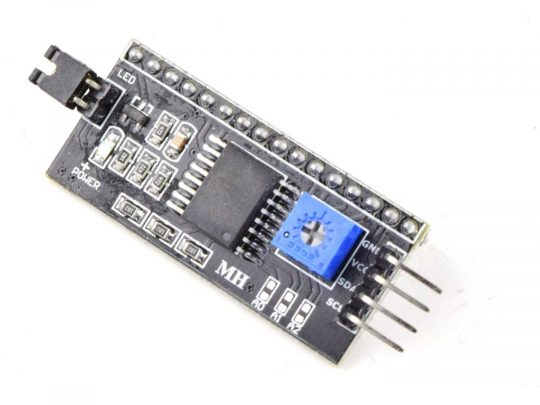 I2C LCD Interface Module for Dot-Matrix Character Displays