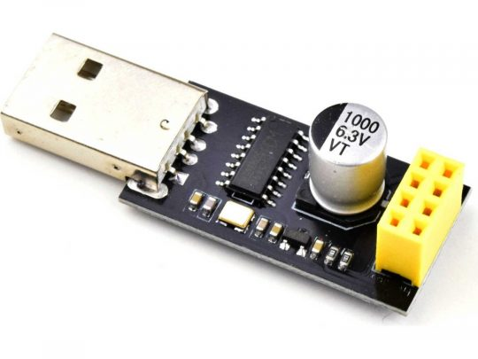 ESP8266 WiFi – USB Adapter for ESP-01 and ESP-01S – CH340 USB