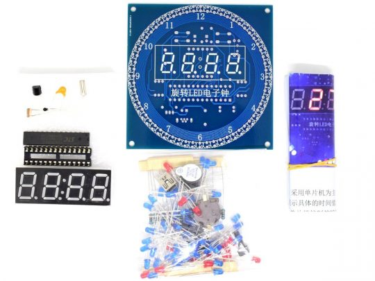 LED Clock Electronics Project with Alarm – Temperature – Date – Time – 13 Effects