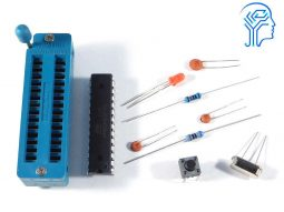 Breadboard Parts Kit ATmega328P – ZIF socket – Bootloader – compatible with Arduino
