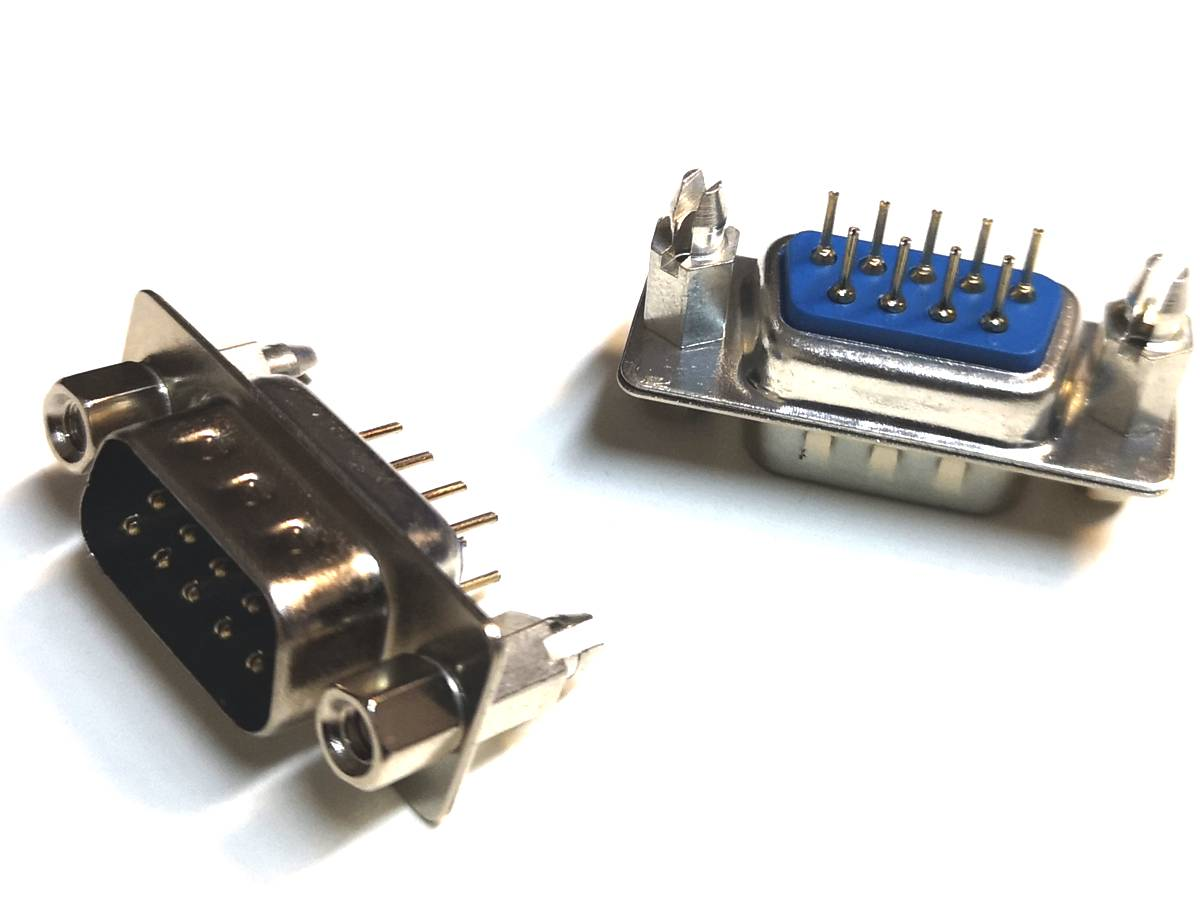 Connector SUB-D9M PCB straight