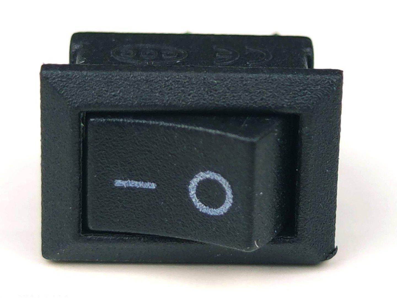 Rocker On/Off switch black plastic