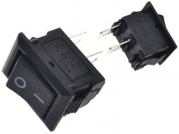 Rocker On/Off switch black plastic