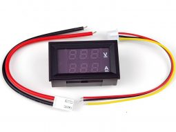 LED Voltmeter Ammeter Dual Display 100VDC 10A – Front Panel Snap-In