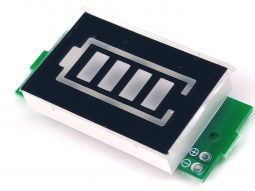 Lithium Battery Gauge LED for 1-8 cells in series – GREEN LED display
