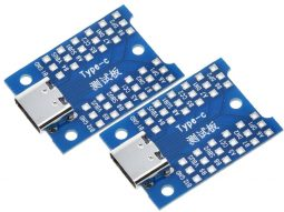 2 pcs USB-C Breakout Board USB Type C Interface Adapter