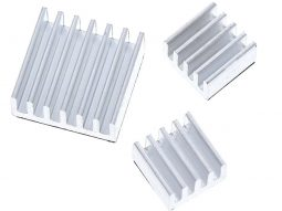 Heat Sink Set for Raspberry Pi – Set of 3 – Aluminum