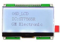 Graphic LCD 128×64 – Black and White – ST7565R Controller with SPI Interface
