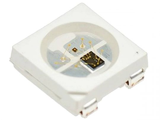 WS2812B addressable RGB LED SMD 5050 (also known as Neopixel)