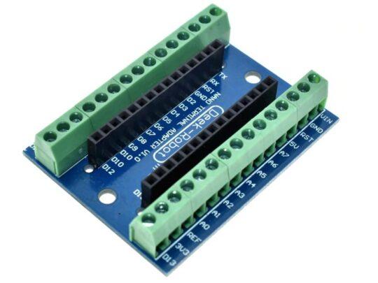 Screw Terminal Shield for Arduino NANO and Bread Board Buddy