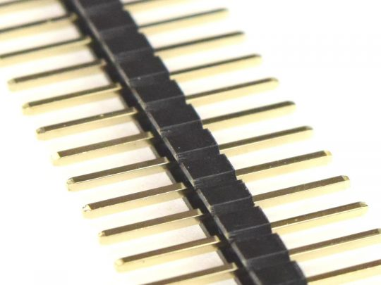 Pin Header Male Symmetric 6.25 + 6.25 mm – 1 x 40 Pin – Gold plated