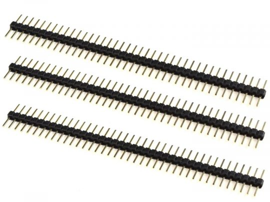 3 x Pin Header Male Symmetric 6.25 + 6.25 mm – 1 x 40 Pin – Gold plated