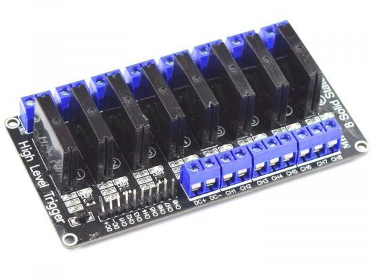 8 Channel SSR Solid State Relay Module 250V 2A – for 3.3V and 5V control voltage