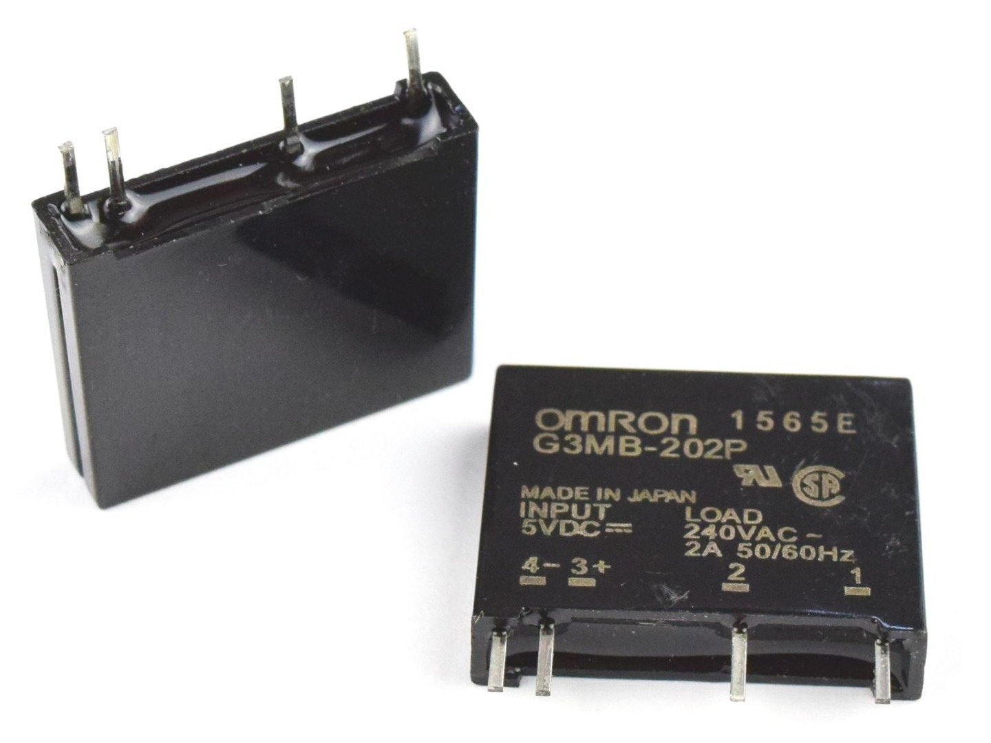 2 x SSR Solid-State-Relay G3MB-202P 250VAC – 2A for 5V control voltage