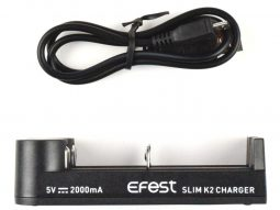 Efest Slim K2 Dual Bay Lithium Cell Charger Size 10440 – 26650