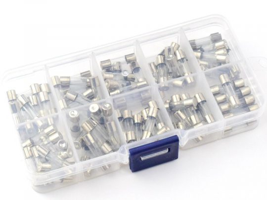 100 pcs Fuse Cartridge 5x20mm – Fast Blow – 200mA to 20A – 250V