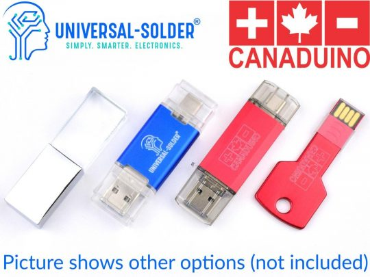 CANADUINO 32GB Triple-USB 3.0 Thumb Drive 15MB/s Write – 31MB/s Read – USB A – C – Micro