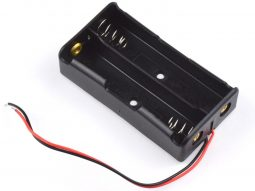 Lithium Battery Holder 2 x 18650 with Open Wire Ends