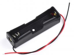 Lithium Battery Holder for 18650 Cell with Open Wire Ends