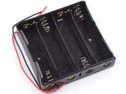 Lithium Battery Holder 4 x 18650 with Open Wire Ends