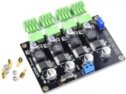 4 Channel Power Supply DC-DC Converter Module 3.3V – 5V – 12V – Adjustable
