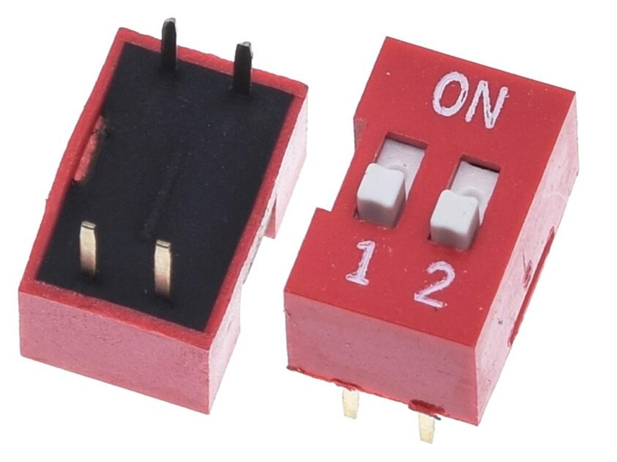 DIP-Switch PCB-Switch Toggle Slider 2-Way (DIP-4)