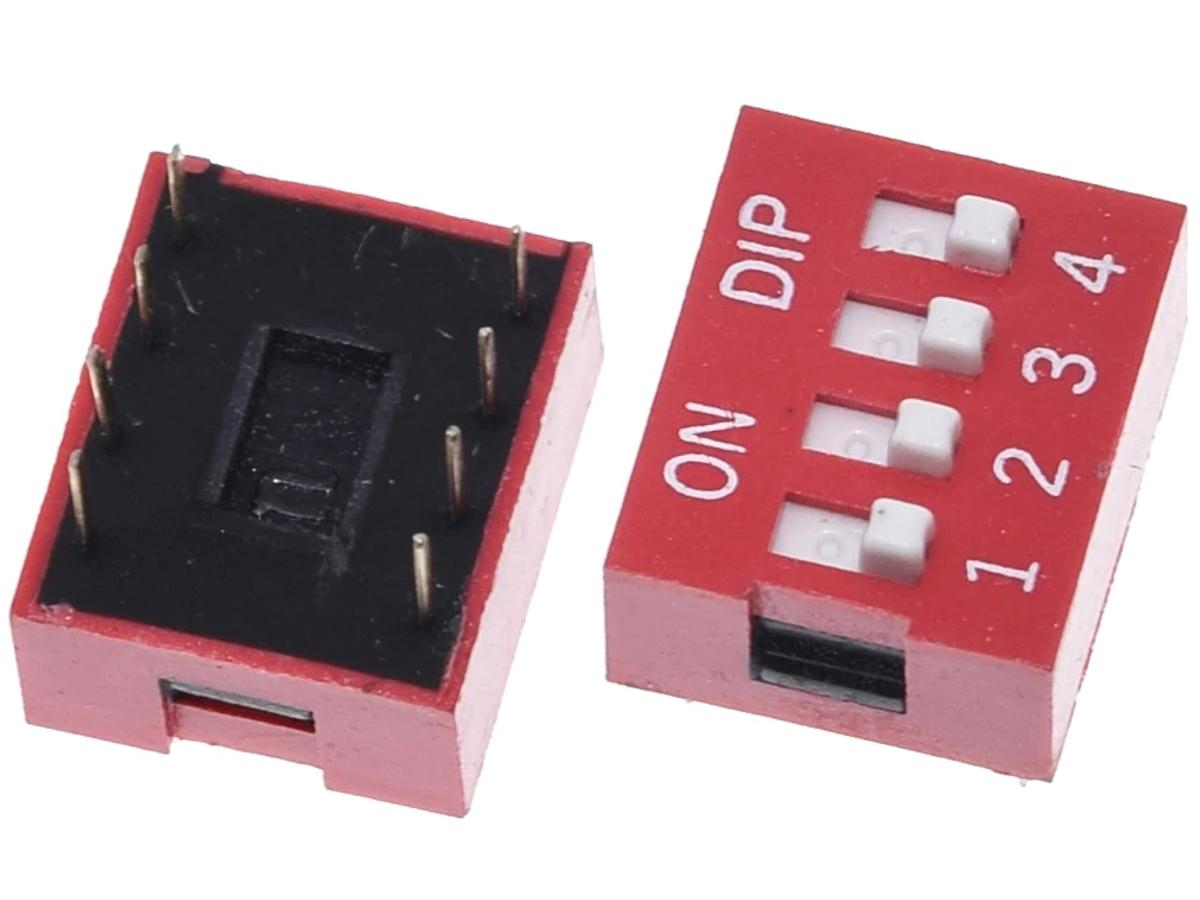 DIP-Switch PCB-Switch Toggle Slider 4-Way (DIP-8)