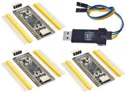 """3 x STM32 """"Black Pill"""" STM32F411CEU6 – V3.1 (New) – 512kB Flash – ST-Link V2 included"""