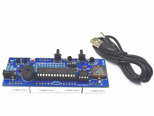 4 Digit 1 Inch Clock DIY Soldering Kit – with Alarm – Temperature – Night Dimming