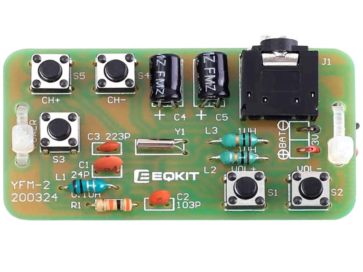 FM Stereo Pocket Radio Receiver DIY Soldering Kit 76-108MHz
