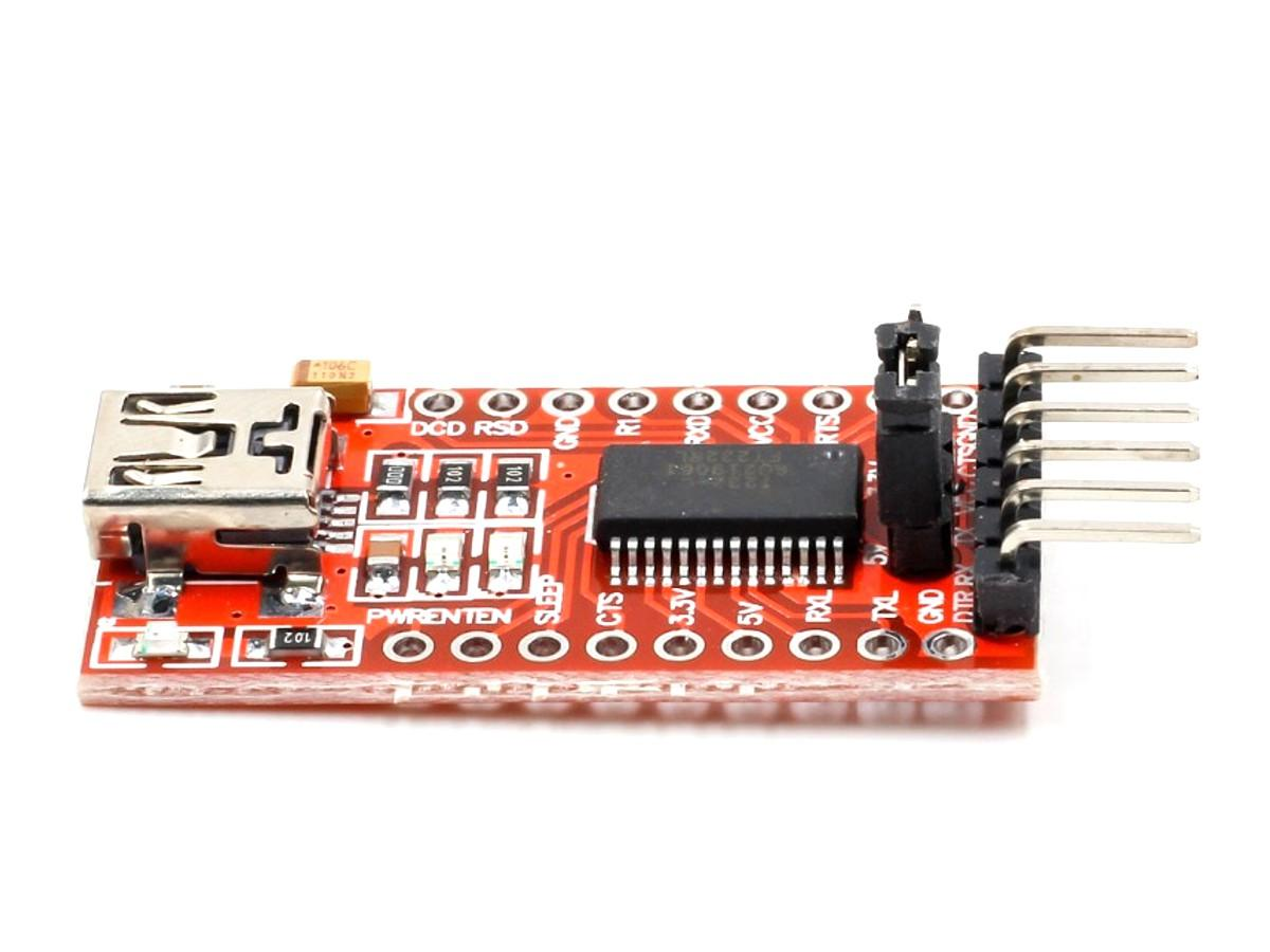 CANADUINO Genuine FTDI FT232RL USB – UART Serial Communication and Programming Adapter 3.3V / 5V