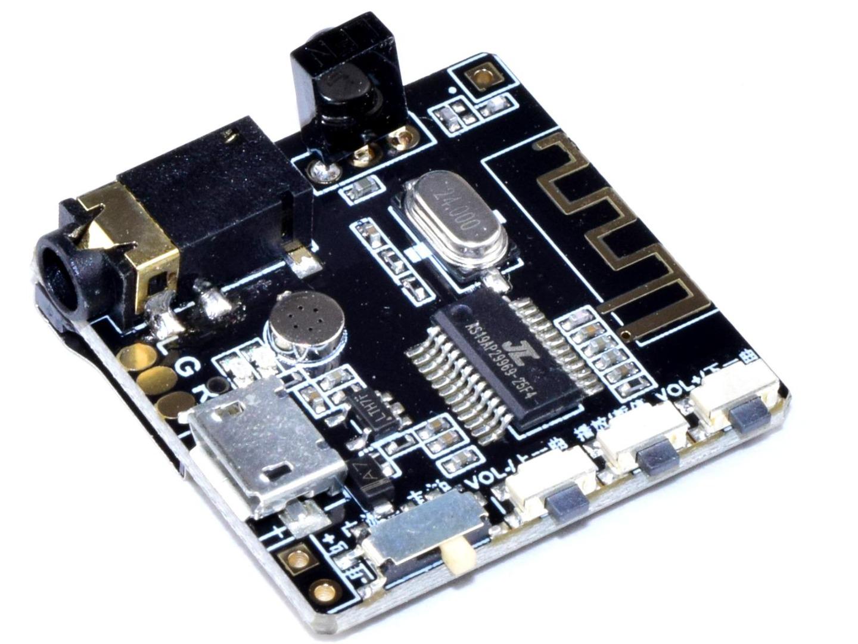 CANADUINO Bluetooth 5.0 Audio Receiver – Decoder – MP3 Player – Handsfree Microphone – FM Stereo Radio Module