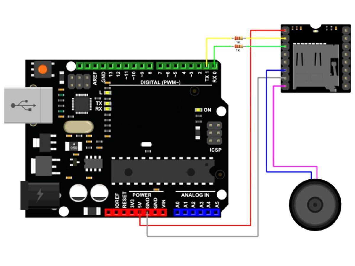 dfrobot dfplayer mini MP3 player module