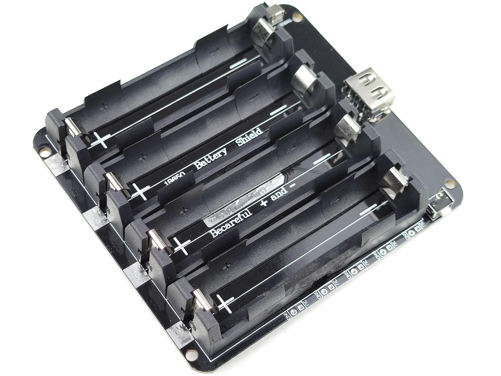 quad lithium 18650 charger booster 3v 5v output