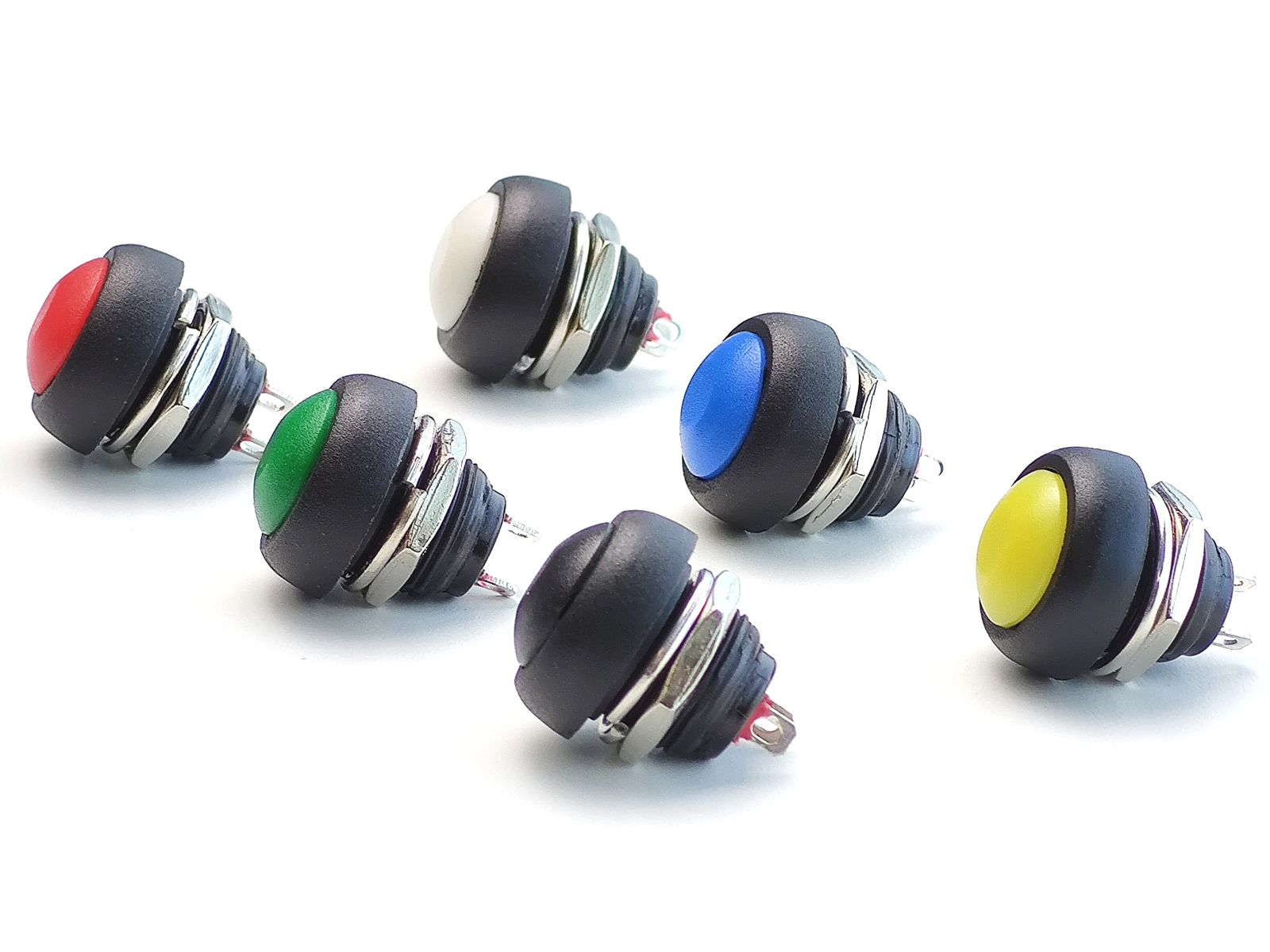 Push Button 12mm waterproof (black)