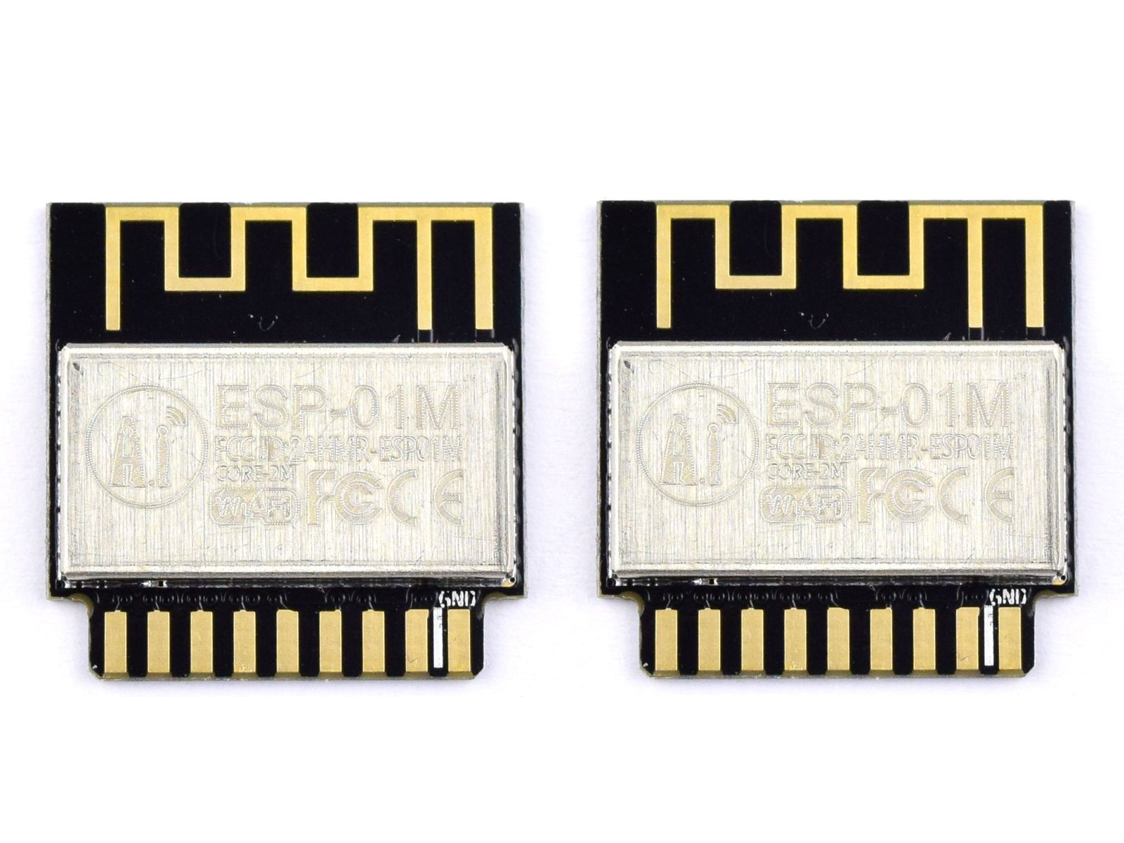 2 x Ai-Thinker ESP-01M ESP8285 – Smallest Breadboard Wi-Fi IoT Module