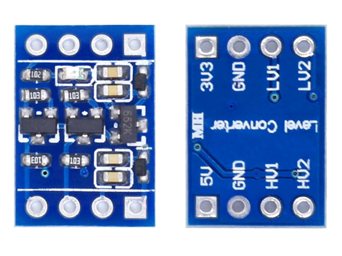 2-Channel Level Converter 5V / 3.3V with 3.3V LDO
