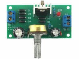 Voltage Regulator DIY Soldering Kit adjustable 1.25V to 12V - 1.5A - AC-DC input