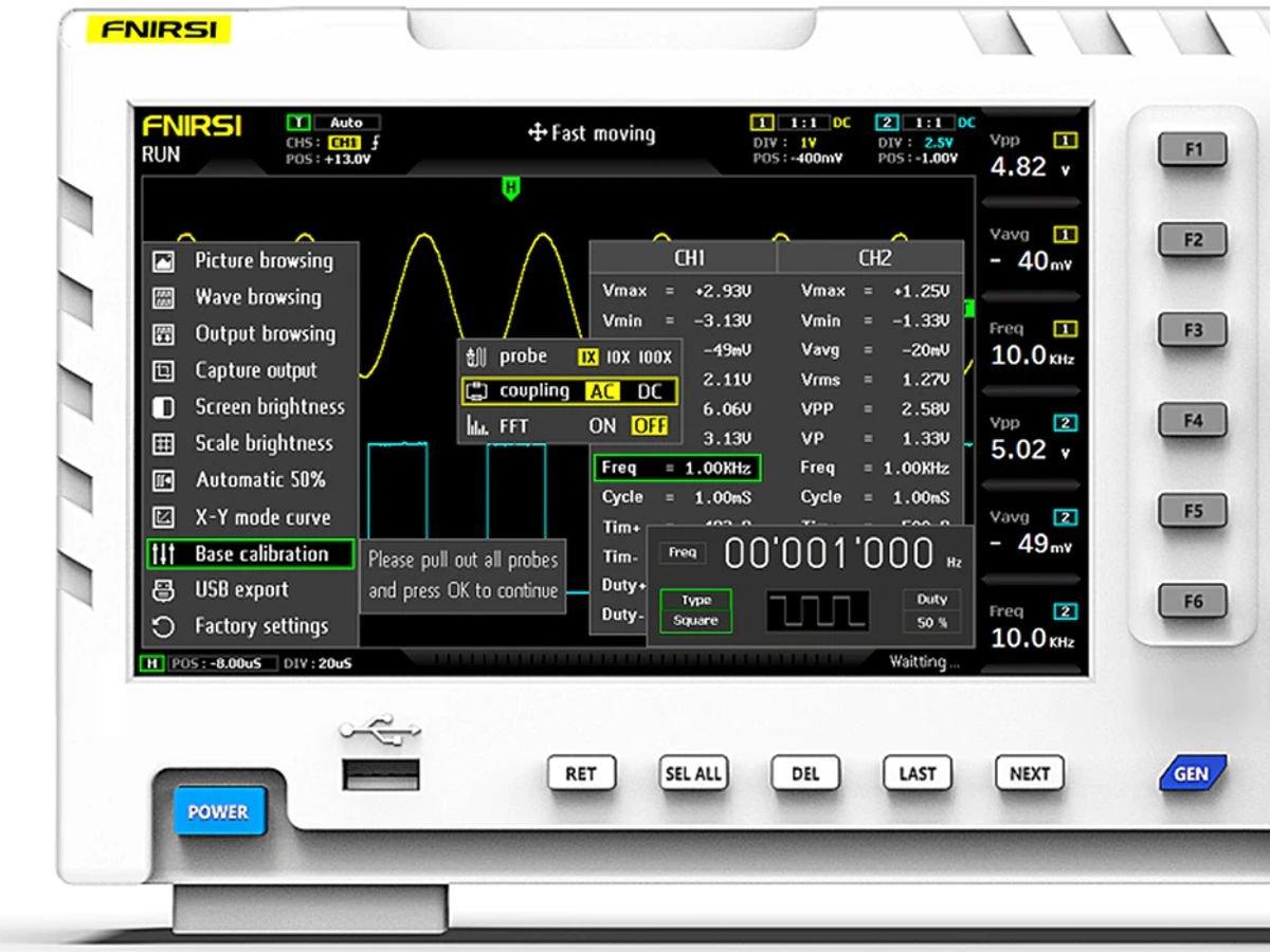FNIRSI 1014D Digital Oscilloscope and Function Generator 2-in-1